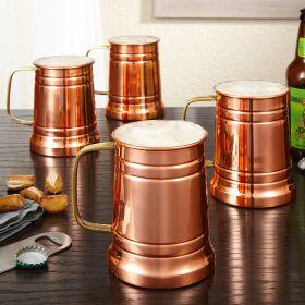 Koln Copper Beer Tankards, Set of 4
