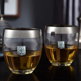 Regal Crested Simply Class Whiskey Glasses, Set of 2
