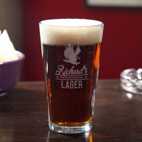 Rushmore Personalized Beer Pint Glass