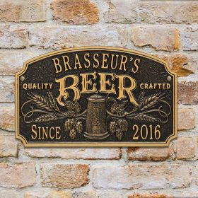 Quality Crafted Beer Custom Arch-Shaped Custom Plaque  - 7 Color Options