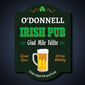 Cheers and Beers Personalized Irish Pub Sign