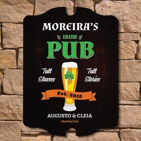 Irish Pub Custom Wood Sign