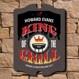 Grill King Custom Wood Sign
