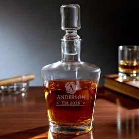 Wax Seal Personalized Glass Decanter