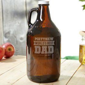 Worlds Best Dad - Custom Beer Growler Gift