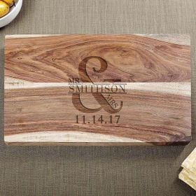 Love & Marriage Exotic Hardwood Cutting Board
