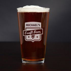 Craft Beer Personalized Pint Glass