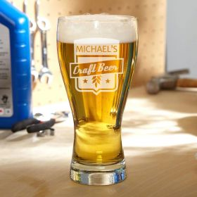 Craft Beer Personalized Pilsner Glass