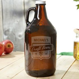 Craft Beer Brown Personalized Growler