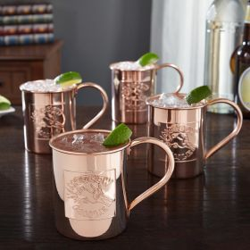 Donkey Kick Moscow Mule Mugs 18oz, Set of 4