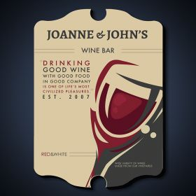 Pleasures of Wine Personalized Bar Sign