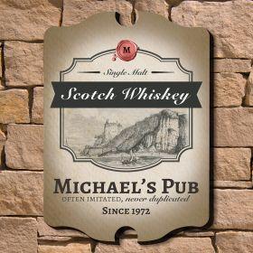 Single Malt Scotch Personalized Bar Sign