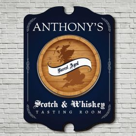 Whiskey Tasting Room Personalized Sign