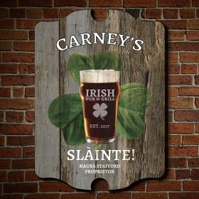 Sláinte Toast Personalized Bar Sign