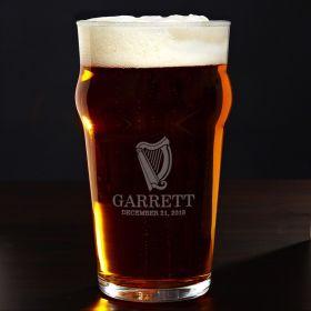 Celtic Harp Custom Pub Glass