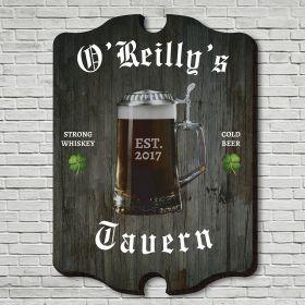 Old Irish Tavern Personalized Wall Sign
