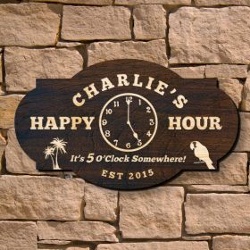Happy Hour Custom Bar Sign (Signature Series)