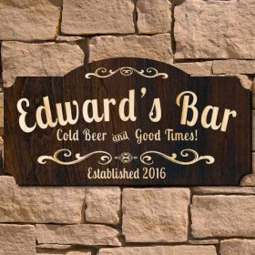 Good Times Wooden Pub Sign (Signature Series)