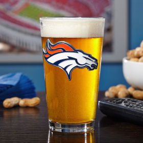 Denver Broncos Pint Glass (Engravable)