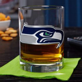 Seattle Seahawks Rocks Glass (Engravable)