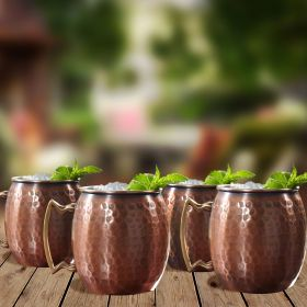 Dmitry Hammered Moscow Mule Mugs, Set of 4