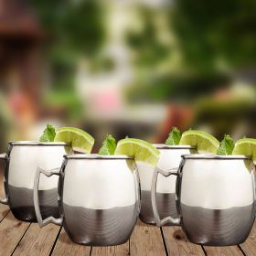 Stainless Steel Moscow Mule Mugs, Set of 4