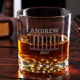 Grand Piano Personalized Whiskey Glass