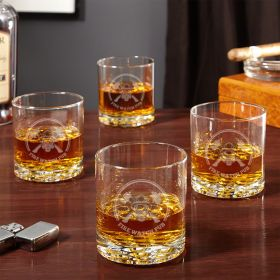 Hot Times Fire Watch Whiskey Glass Set