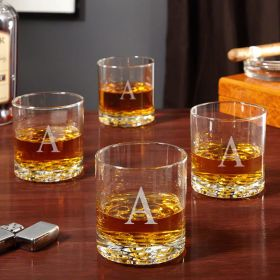 Buckman Personalized Old Fashioned Glasses, Set of 4