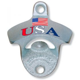Patriotic Wall Mount Beer Bottle Opener