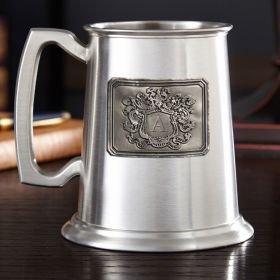 Royal Crested Glass Bottom Tankard