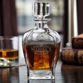 Kensington Personalized Draper Whiskey Decanter
