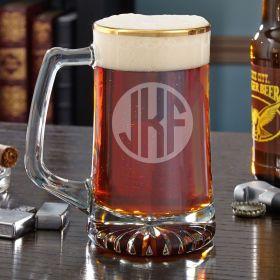 Classico Custom Gold Rim Beer Mug