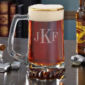 Midas Gold Rim Custom Beer Mug