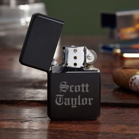 Blackout Personalized Metal Lighter