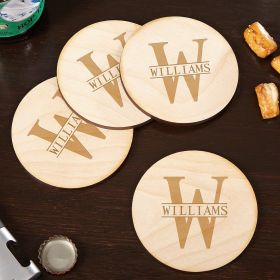 Oakmont Handcrafted Custom Wooden Drink Coasters