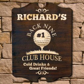 Back Nine Club House Custom Golf Sign (Signature Series)