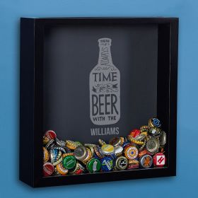 Always Time For a Beer Custom Shadow Box