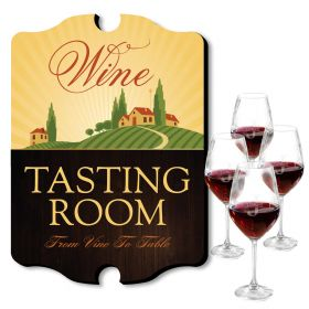 Personalized Oakmont Wine Glasses and Tasting Room Sign