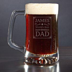 Best Dad Award Custom Beer Mug