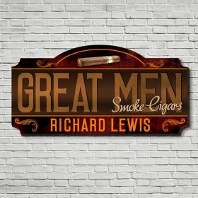 Private Label Cigars Personalized Wood Painted Sign