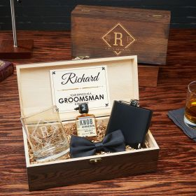 Drake Customized Groomsmen Gift Set with Wood Box