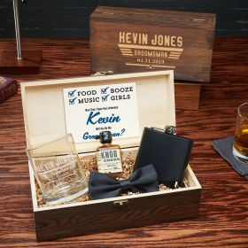 Maverick Customized Groomsmen and Best Man Wood Gift Box Set