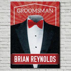 Suit Up Personalized Wooden Sign Unique Groomsmen Gift