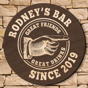 Vintage Bar Custom Wooden Welcome Sign (Signature Series)