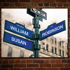 Path to Love Personalized Street Sign Gift Idea for Couples