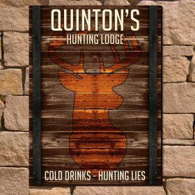 Huntsman Big Game Personalized Wooden Wall Art