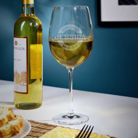Arlo Personalized White Wine Bridesmaids Wine Glass