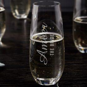 Lassarre Personalized Stemless Champagne Flute