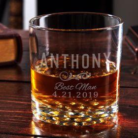 Classic Groomsman Custom Whiskey Glass – Groomsman Gift Idea